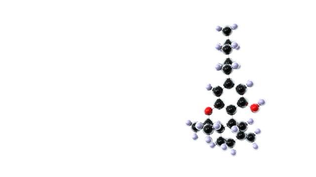 vidéos et rushes de thc molecule from marijuana - molécule