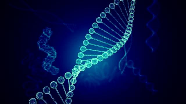 vidéos et rushes de structure de molécule d'adn - hélice forme géométrique