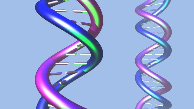 dna molecule twist animation [001] - orthographic symbol stock videos and b-roll footage