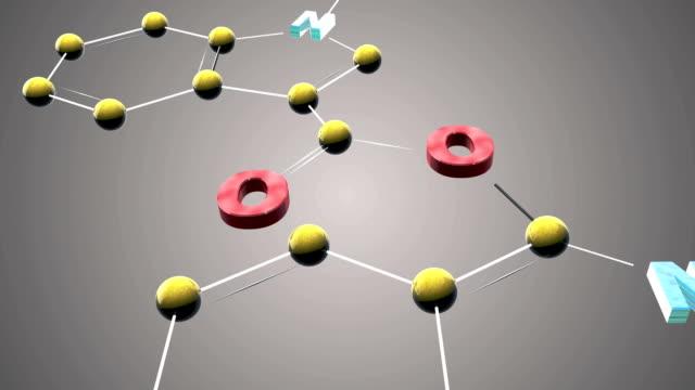 vídeos y material grabado en eventos de stock de pb22 molécula - fórmula química