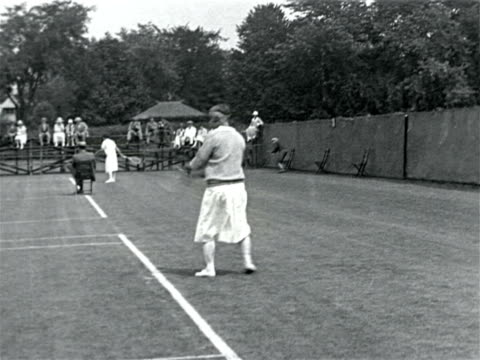 molla mallory playing in tennis match / documentary - 1923 stock videos & royalty-free footage