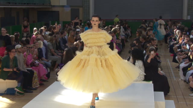 runway molly goddard lfw september 2019 at seymour hall on september 14 2019 in london england - runway stock videos & royalty-free footage