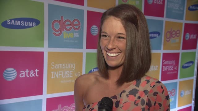 molly habich contest winner on getting the news that she won on cory monteith calling her and how speechless she was on why she is the biggest gleek... - cory monteith stock videos and b-roll footage