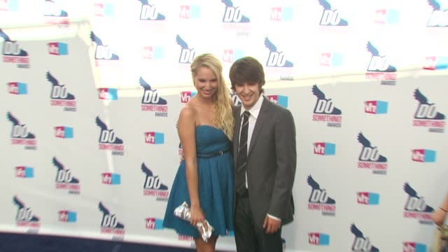 molly mccook and devon werkheiser at the 2010 vh1 do something awards at hollywood ca. - do something awards stock videos & royalty-free footage