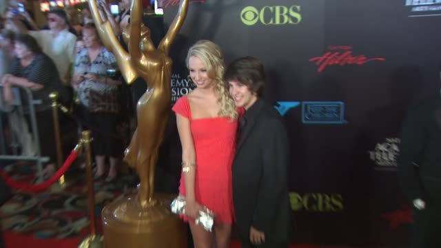 molly mccook devon werkheiser at the 37th annual daytime emmy awards at las vegas nv - annual daytime emmy awards stock videos & royalty-free footage