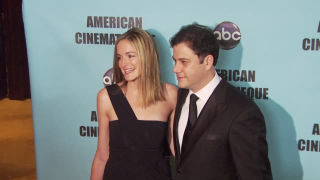 molly mcnearney jimmy kimmel at the american cinematheque's 2010 award show honoring matt damon at beverly hills ca - jimmy kimmel stock videos and b-roll footage