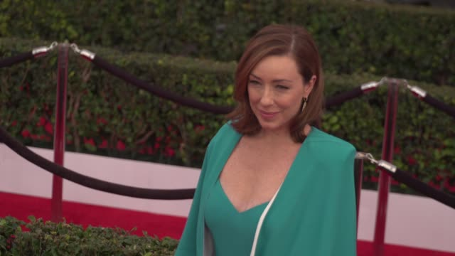 molly parker at the 22nd annual screen actors guild awards - arrivals at the shrine auditorium on january 30, 2016 in los angeles, california. 4k... - shrine auditorium stock videos & royalty-free footage
