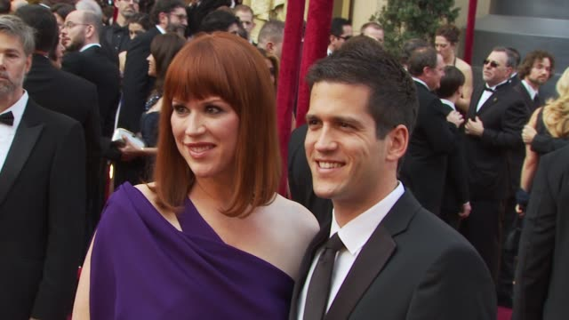 molly ringwald, and husband panio gianopoulos at the 82nd annual academy awards - arrivals at hollywood ca. - molly ringwald stock videos & royalty-free footage