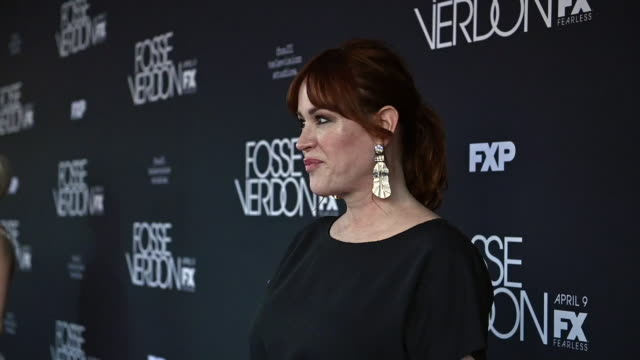 molly ringwald at fx's fosse/verdon new york premiere on april 08 2019 in new york city - molly ringwald stock videos & royalty-free footage