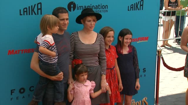 molly ringwald at the boxtrolls los angeles premiere presented by focus features benefitting the imagination foundation in los angeles ca - molly ringwald stock videos & royalty-free footage
