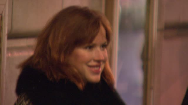 molly ringwald at the the opening of david mamet's new play 'november' at ethel barrymore theatre in new york new york on january 17 2008 - molly ringwald stock videos & royalty-free footage