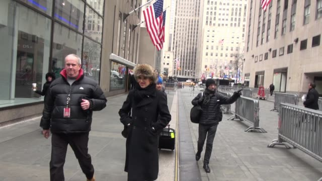molly ringwald at the today show in rockefeller plaza - celebrity sightings in new york on march 3, 2015 in new york city, new york. - molly ringwald stock videos & royalty-free footage