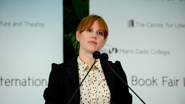 molly ringwald promotes her book 'when it happens to you: a novel in stories' at the miami international book fair molly ringwald promotes her book... - molly ringwald stock videos & royalty-free footage