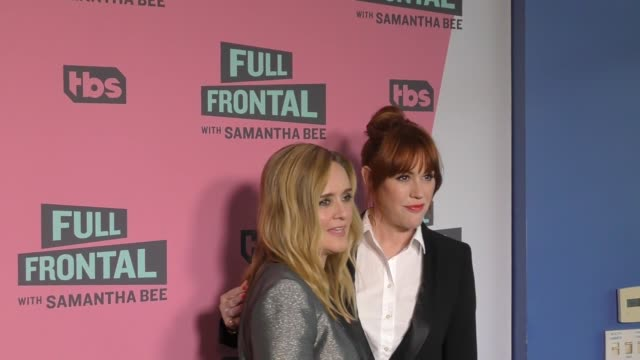 molly ringwald & samantha bee at the full frontal with samantha bee fyc event at writer's guild theatre in beverly hills in celebrity sightings in... - molly ringwald stock videos & royalty-free footage