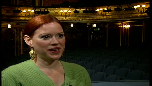 molly ringwald starring in stage version of 'when harry met sally'; itn england: london: int molly ringwald interviewed sot - i thought it went... - molly ringwald stock videos & royalty-free footage