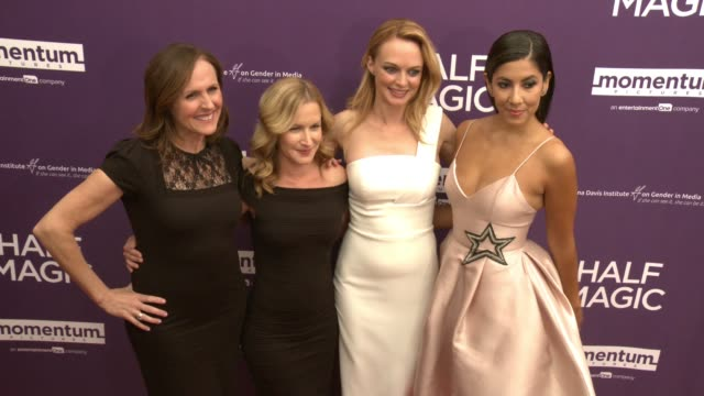 molly shannon angela kinsey heather graham and stephanie beatriz at the half magic los angeles screening at the london west hollywood on february 21... - angela kinsey stock videos and b-roll footage