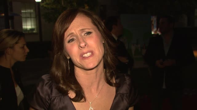 molly shannon on the film, working with the dog, if she knows people who are obsessed with their pets, and the experience of working on the film at... - molly shannon stock videos & royalty-free footage