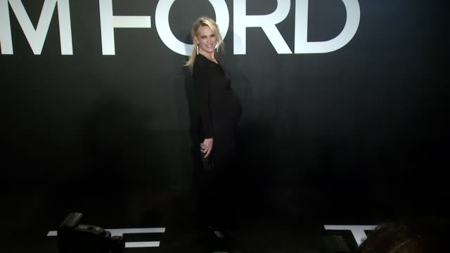 stockvideo's en b-roll-footage met molly simms at tom ford presents his autumn/winter 2015 womenswear collection at milk studios on february 20 2015 in los angeles california - dameskleding