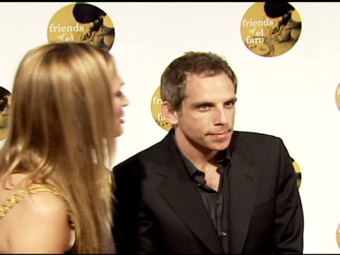 molly sims and ben stiller at the 4th annual night with friends of el faro at the music box in hollywood california on june 18 2006 - molly sims stock videos & royalty-free footage