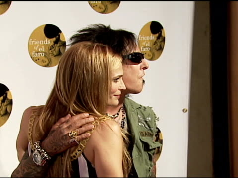 molly sims and nikki sixx of motley crue at the 4th annual night with friends of el faro at the music box in hollywood california on june 18 2006 - molly sims stock videos & royalty-free footage