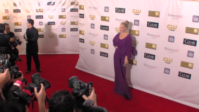 molly sims at 18th annual critics' choice movie awards 1/10/2013 in santa monica ca - molly sims stock videos & royalty-free footage