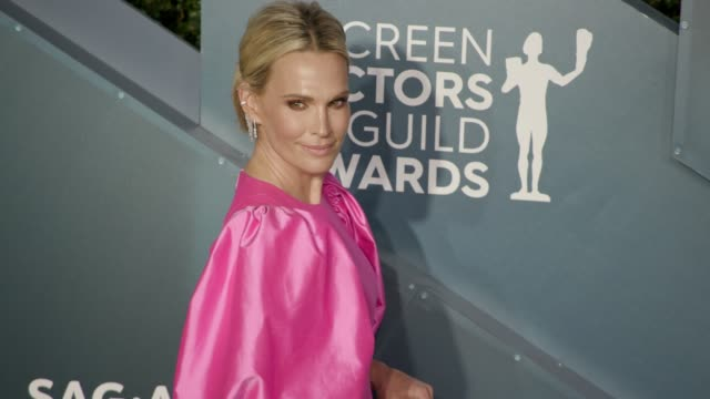molly sims at the 26th annual screen actors guild awards arrivals at the shrine auditorium on january 19 2020 in los angeles california - molly sims stock videos & royalty-free footage