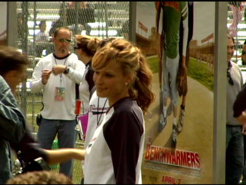 molly sims at the 'benchwarmers' los angeles premiere at ucla in westwood, california on april 2, 2006. - molly sims stock videos & royalty-free footage