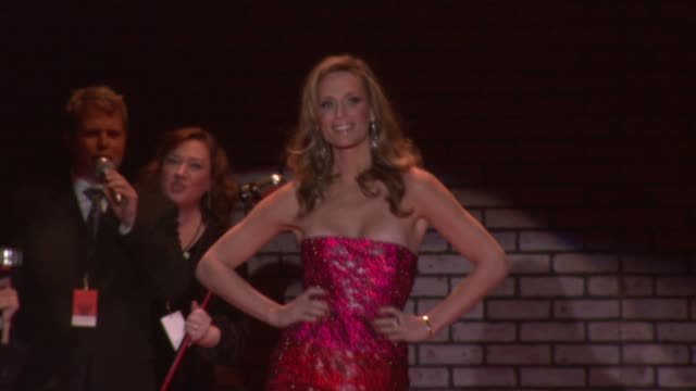 molly sims at the mercedes-benz fashion week fall 2008 the heart truth red dress runway show at bryant park in new york, new york on february 1, 2008. - molly sims stock videos & royalty-free footage