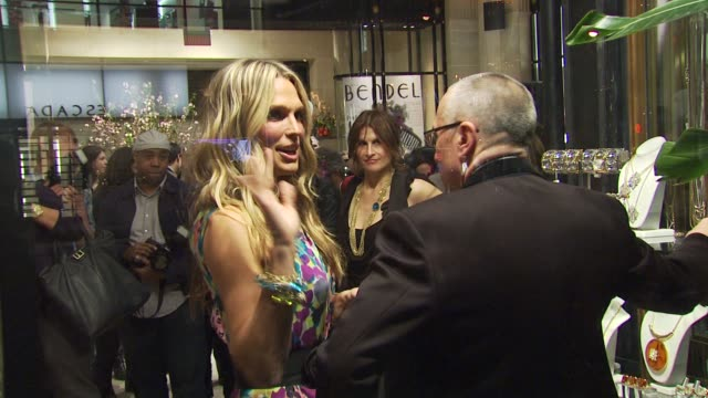 molly sims at the molly sims launches 'grayce by molly sims the collection' at new york ny. - モリー・シムズ点の映像素材/bロール