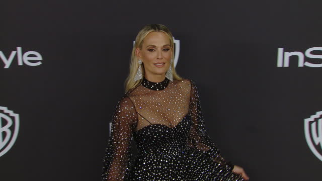molly sims at the warner bros. and instyle host 20th annual post-golden globes party at the beverly hilton hotel on january 6, 2019 in beverly hills,... - モリー・シムズ点の映像素材/bロール
