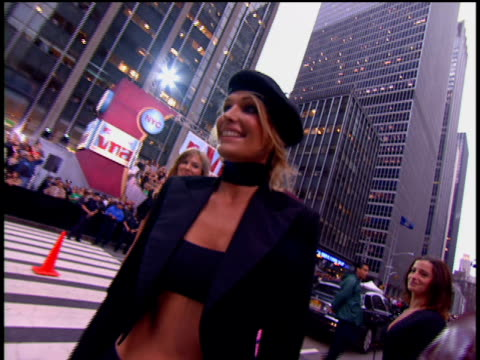 molly sims is attending the 2002 mtv video music awards red carpet. - 2002 stock videos & royalty-free footage