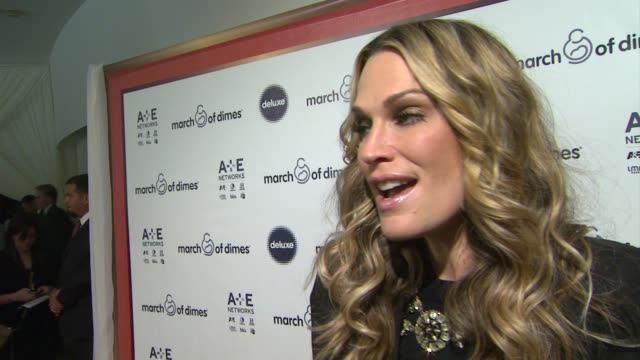 interview molly sims on supporting march of dimes at march of dimes celebration of babies luncheon honoring jennifer lopez in los angeles ca on... - molly sims stock videos & royalty-free footage