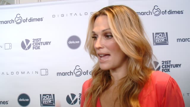 interview molly sims on why its important to support the march of dimes and what she does to help facilitate a healthy pregnancy at 2014 march of... - molly sims stock videos & royalty-free footage