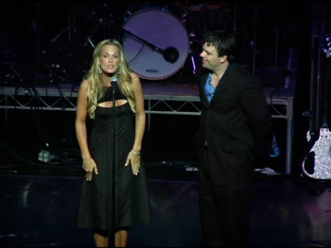 molly sims recieves microsoft award at the 3rd annual 'night with the friends of el faro' benefit hosted by molly sims on may 13, 2005. - molly sims stock videos & royalty-free footage