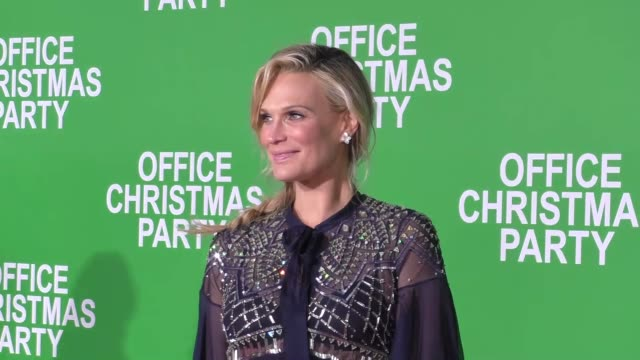 molly sims scott stuber at the premiere of paramount pictures' 'office christmas party' on december 07 2016 in westwood california - molly sims stock videos & royalty-free footage