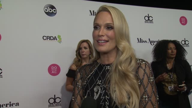 interview molly sims talks about how impressed she is by the girls at the 2018 miss america competition on september 10 2017 in atlantic city new... - molly sims stock videos & royalty-free footage