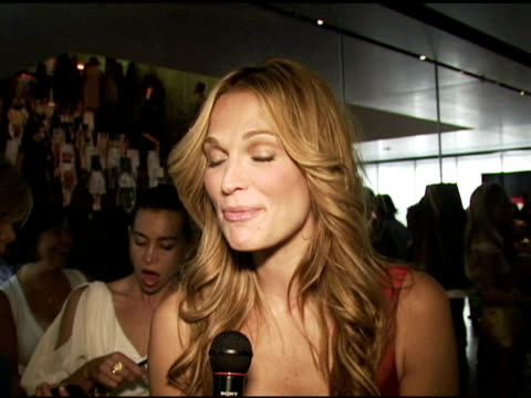 molly sims, wearing prada, on the classic styles of prada, on why it fits every woman perfectly, on talking to miuccia prada on a plane, on her prada... - molly sims stock videos & royalty-free footage