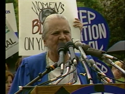 stockvideo's en b-roll-footage met molly yard of the national organization for women voices her opinion at a proabortion rally - demonstrant