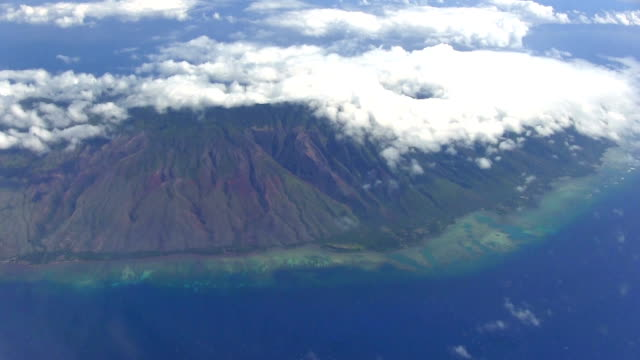 Molokai coast aerial views (Hawaii)