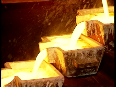molten gold pours into moulds ghana; 09 nov 98 - ghana stock videos & royalty-free footage