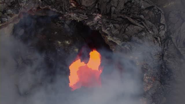 Molten lava from Kilauea volcano at Hawaii Volcanoes National Park.
