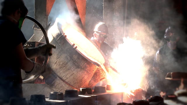 molten metal - foundry stock videos & royalty-free footage