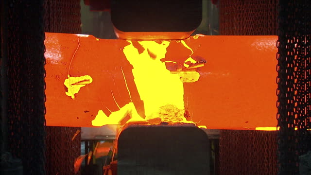 molten steel being moulded in a factory - molten stock videos and b-roll footage