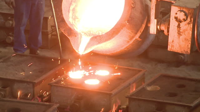 molten steel - foundry stock videos & royalty-free footage