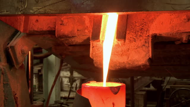 molton liquid gold in gold refinery - melting stock videos & royalty-free footage