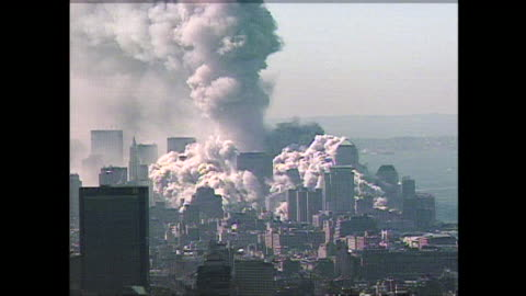 moments after the collapse of the north tower at the world trade center on 9/11. - september 11 2001 attacks stock videos & royalty-free footage