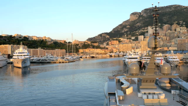 monaco aerial coastline yacht outdoor ship sea sailing - monaco stock videos and b-roll footage