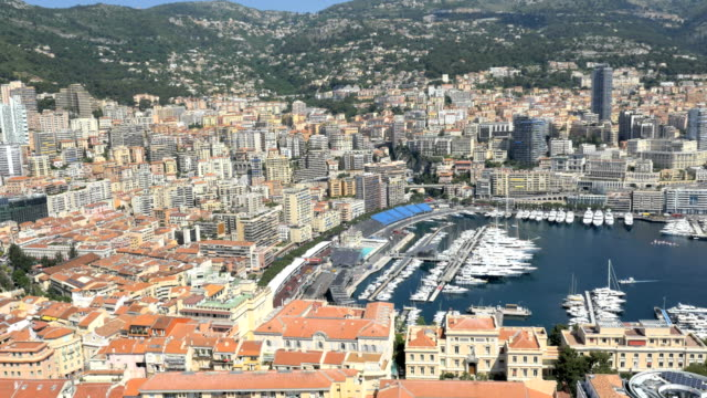 monaco aerial coastline yacht tourism outdoor sailing travel - monaco stock videos and b-roll footage