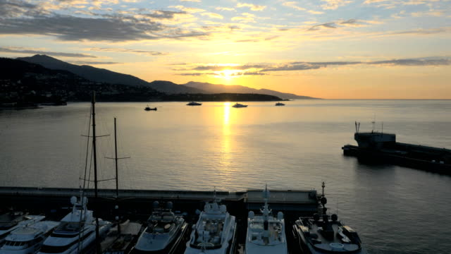 monaco aerial monte carlo city business boat harbor - monaco stock videos and b-roll footage