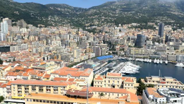 monaco aerial monte carlo marina business ship harbor - monte carlo stock videos & royalty-free footage